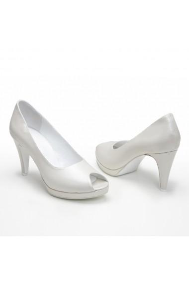 Pantofi cu toc Veronesse 383/011 Ivory