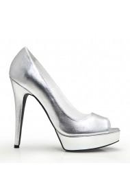 Pantofi cu toc Veronesse 336/641 Argintiu