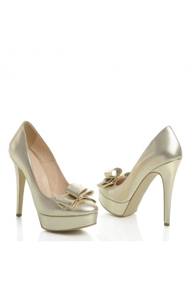 Pantofi cu toc Veronesse 336/641/1 Auriu