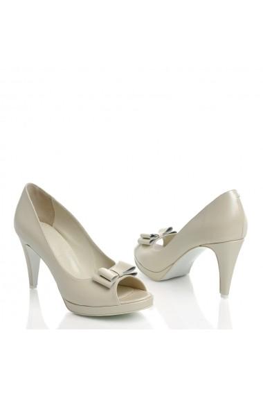 Pantofi cu toc Veronesse K45/011 Ivory