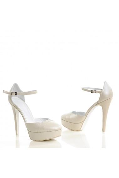 Pantofi cu toc Veronesse 73/1/641 Ivory