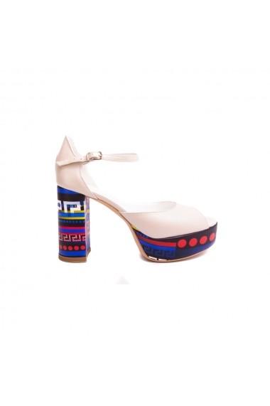 Sandale cu toc Veronesse 556/365 Ivory