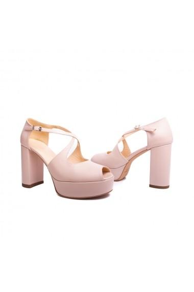 Sandale cu toc Veronesse 778/365 Nude