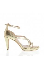 Sandale cu toc Veronesse 799/11 Auriu