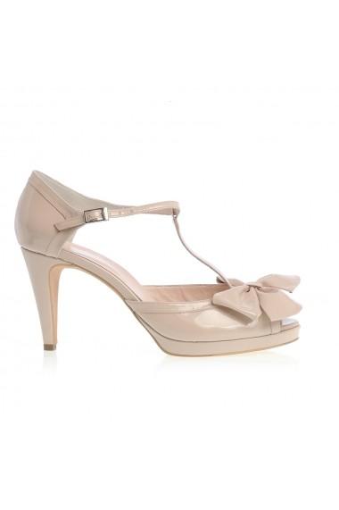Sandale cu toc Veronesse 704/011 cu funda Nude