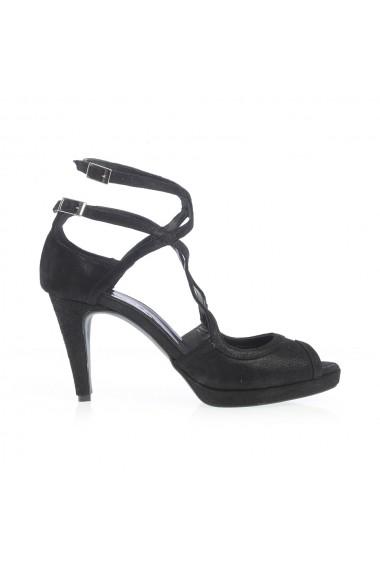Sandale cu toc Veronesse 517/011 Negru