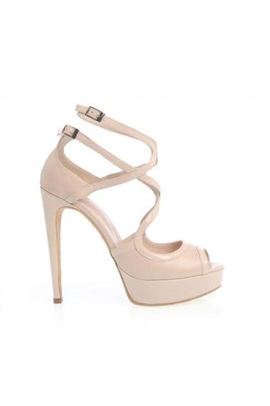 Sandale cu toc Veronesse 517/641 Nude