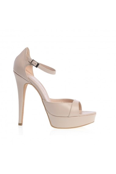 Sandale cu toc Veronesse 73/641 Nude