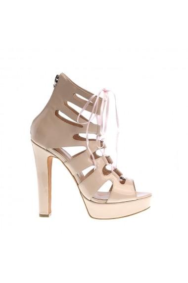 Sandale cu toc Veronesse 522 Nude