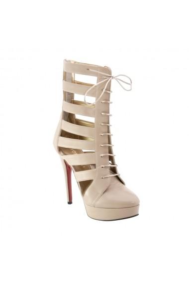 Sandale cu toc Veronesse 735/641 scurt Nude