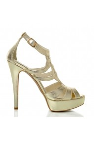 Sandale cu toc Veronesse 783/641 Auriu