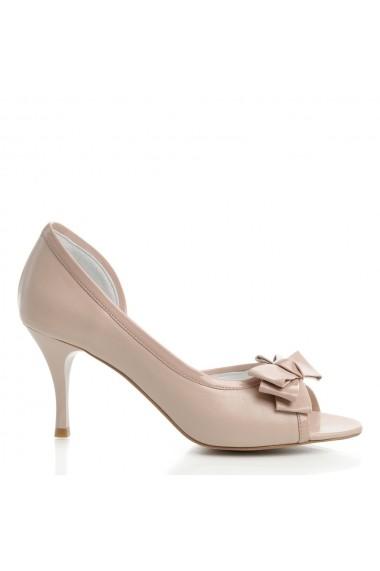 Sandale cu toc Veronesse 391/011/124 Nude