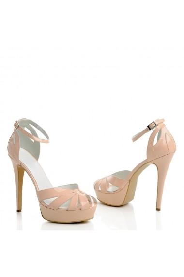 Sandale cu toc Veronesse Aderyn/642 Nude