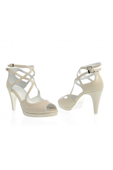 Sandale cu toc Veronesse 517/011 Ivory