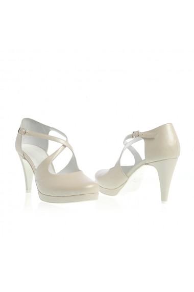 Sandale cu toc Veronesse 778/011/1 Ivory