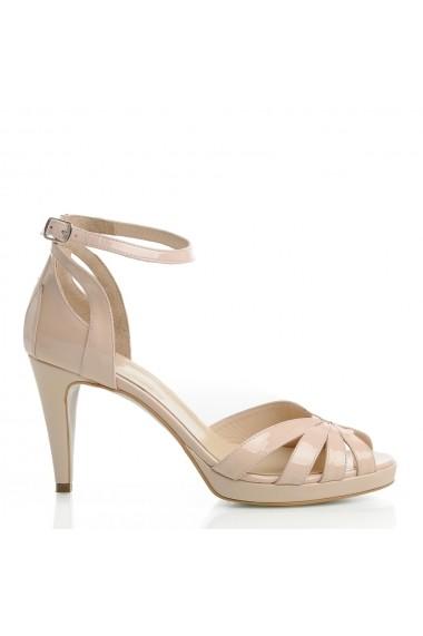Sandale cu toc Veronesse Aderyn/011 Nude