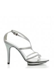 Sandale cu toc Veronesse 729/012 Argintiu