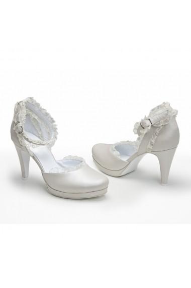 Sandale cu toc Veronesse 309/011/1 Ivory