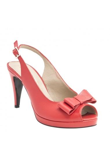 Sandale cu toc Veronesse 788/011 Rosu