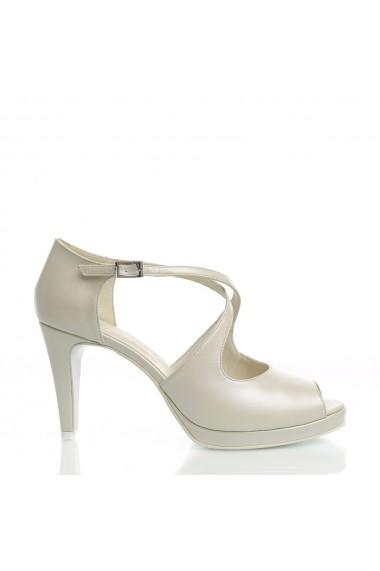 Sandale cu toc Veronesse 778/011 Ivory