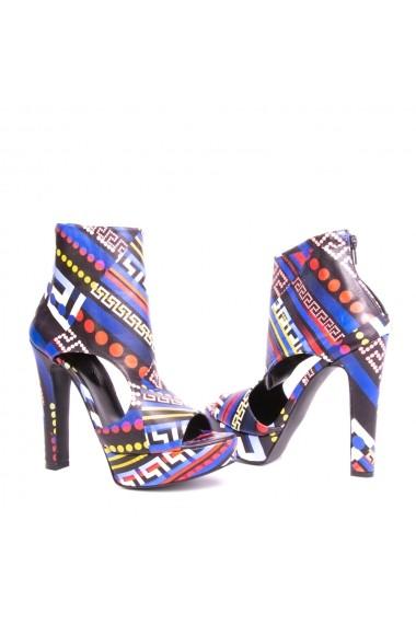 Sandale cu toc Veronesse Brianna Multicolor