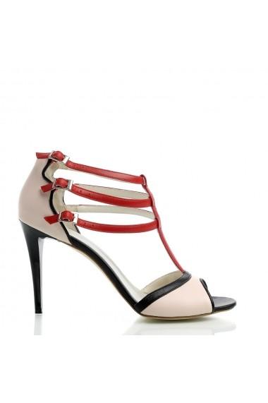 Sandale cu toc Veronesse Miruna Multicolor