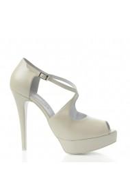 Sandale cu toc Veronesse 778/641 Ivory
