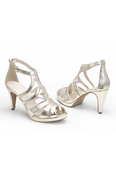 Sandale cu toc Veronesse 783/011 Auriu