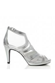 Sandale cu toc Veronesse 783/011 Argintiu