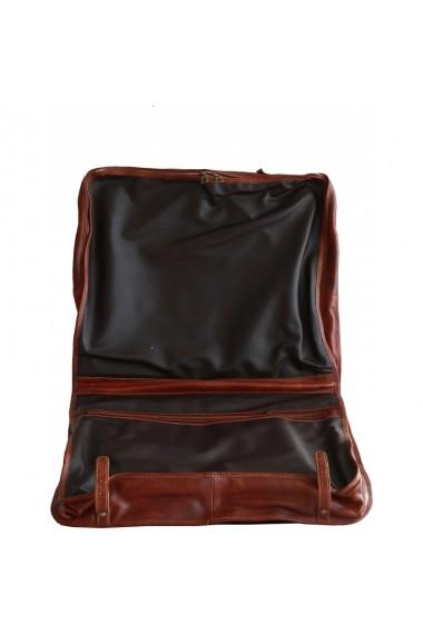 Husa de haine din piele naturala,port costum, BGV102A