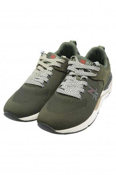 Pantofi sport Thunder Flyknit verde militar din material textil