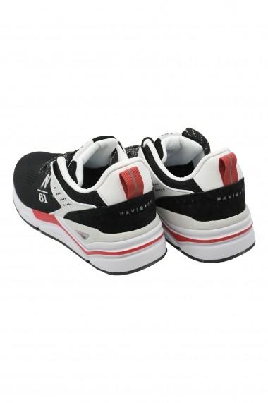 Pantofi sport barbati negri cu plasa Thunder Knit