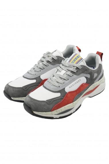 Pantofi sport barbati Storm alb cu gri