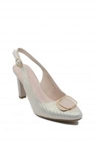 Pantofi dama Epica aurii din piele intoarsa
