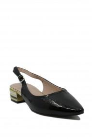 Pantofi dama Epica decupati negri din lac