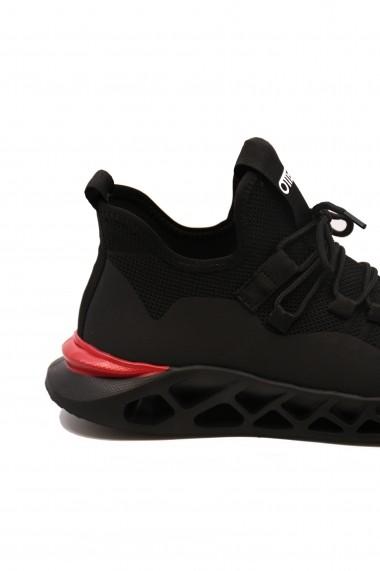 Sneakers Otter negri cu talpa voluminoasa