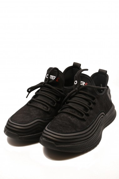 Pantofi sport Otter negri din piele intoarsa