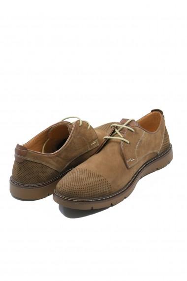 Pantofi casual Otter din piele intoarsa tobacco