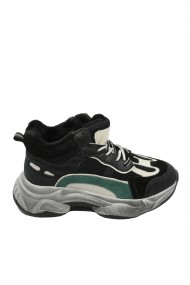 Pantofi sport dama negri cu interior imblanit