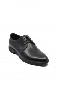 Pantofi eleganti Eldemas negri din piele naturala