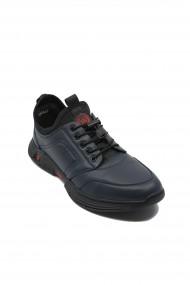 Pantofi sport Franco Gerardo bleumarin din piele naturala