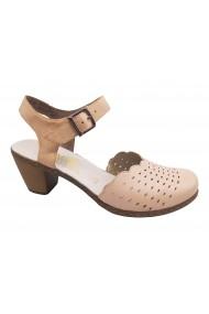 Pantofi dama casual decupati roz pal