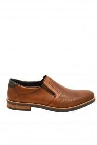 Pantofi barbati casual maro din piele naturala