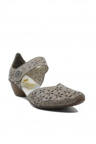 Pantofi dama decupati ultra-usori bej din piele naturala
