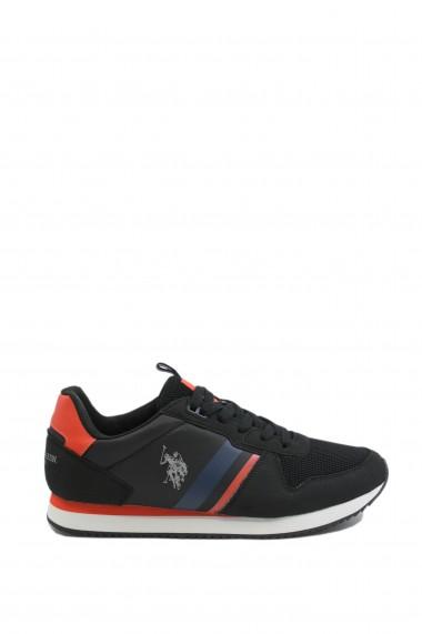 Pantofi sport barbati negru-rosu Nobil by US POLO ASSN
