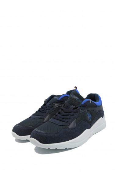 Pantofi sport barbati bleumarin din material textil Callum by US POLO ASSN