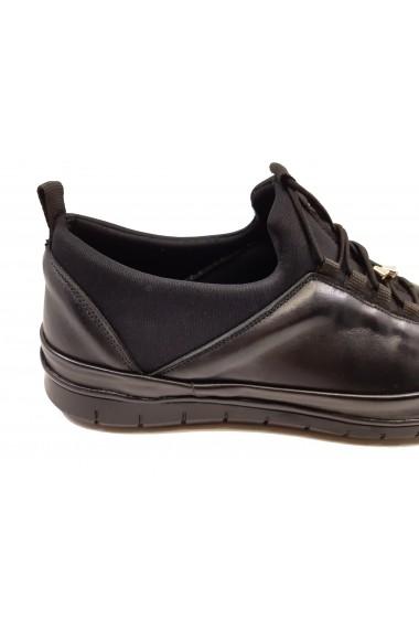 Pantofi sport negri pentru barbati din piele naturala In Tempo