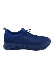 Pantofi sport strech bleumarin din piele intoarsa