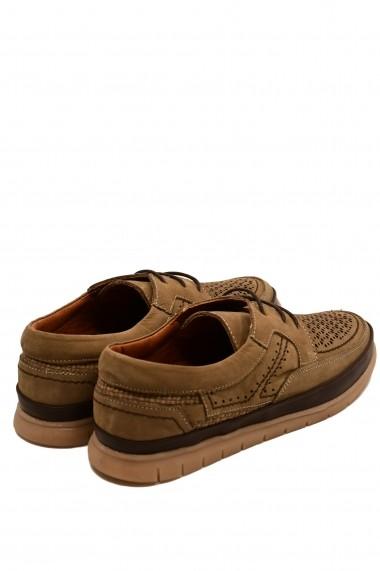 Pantofi barbati casual bej din piele intoarsa
