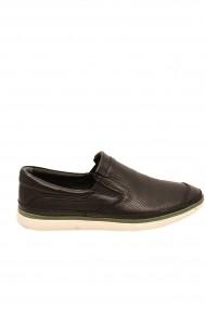 Pantofi casual negri barbati din piele naturala